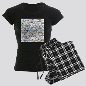 School of Sharks 1 Women's Dark Pajamas