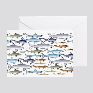 School of Sharks 1 Greeting Card