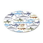 School of Sharks 1 20x12 Oval Wall Decal