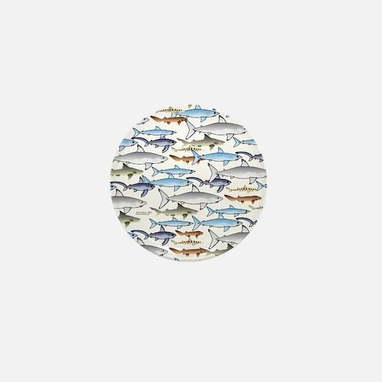 School of Sharks 1 Mini Button