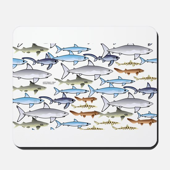 School of Sharks 1 Mousepad