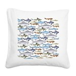 School of Sharks 1 Square Canvas Pillow