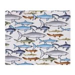 School of Sharks 1 Throw Blanket
