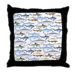 School of Sharks 1 Throw Pillow