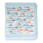 School of Sharks 1 baby blanket