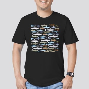 School of Sharks 1 Men's Fitted T-Shirt (dark)