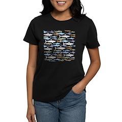 School of Sharks 1 Women's Dark T-Shirt
