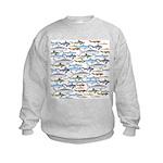 School of Sharks 1 Kids Sweatshirt