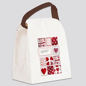 Love to Quilt Canvas Lunch Bag