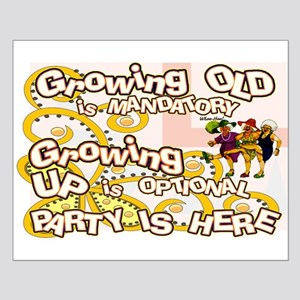 growing old women party Small Poster