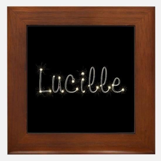 Lucille Spark Framed Tile