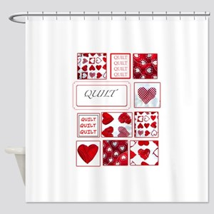 Love to Quilt Shower Curtain