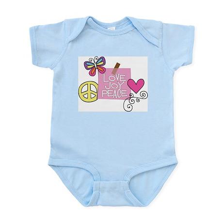 Love Joy Peace.png Infant Bodysuit
