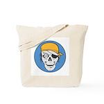 Colored Pirate Skull Tote Bag