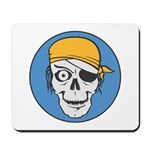 Colored Pirate Skull Mousepad