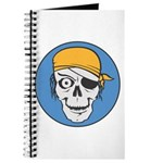 Colored Pirate Skull Journal