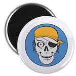 Colored Pirate Skull 2.25