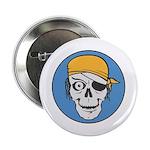 Colored Pirate Skull Button