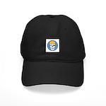 Colored Pirate Skull Black Cap