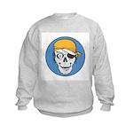 Colored Pirate Skull Kids Sweatshirt