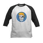 Colored Pirate Skull Kids Baseball Jersey