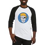 Colored Pirate Skull Baseball Jersey