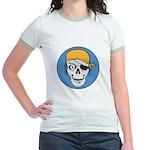 Colored Pirate Skull Jr. Ringer T-Shirt