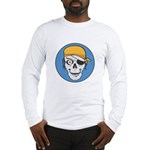 Colored Pirate Skull Long Sleeve T-Shirt