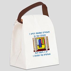 closetcrocheter Canvas Lunch Bag