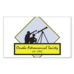 OAS logo Sticker (Rectangle 50 pk)