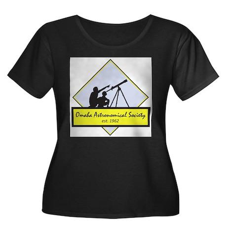 OAS logo Women's Plus Size Scoop Neck Dark T-Shirt