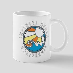 Imperial Beach Wave Badge Mug