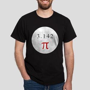 Pi - WHITE Dark T-Shirt