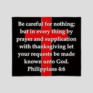 Philippians 4:6 Throw Blanket