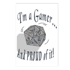 Proud Gamer Postcards (Package of 8)