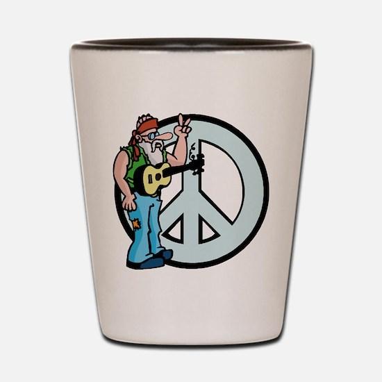 Funny Peace Shot Glass