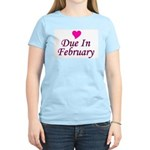 Due In February Women's Pink T-Shirt