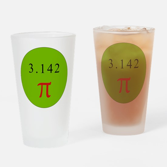 Pi - GREEN Drinking Glass