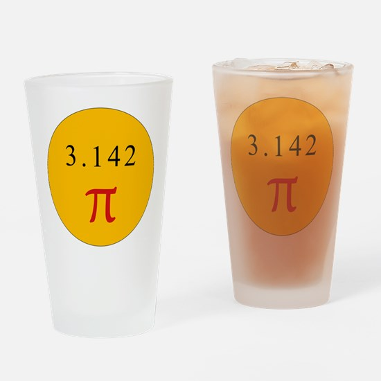 Pi - YELLOW Drinking Glass