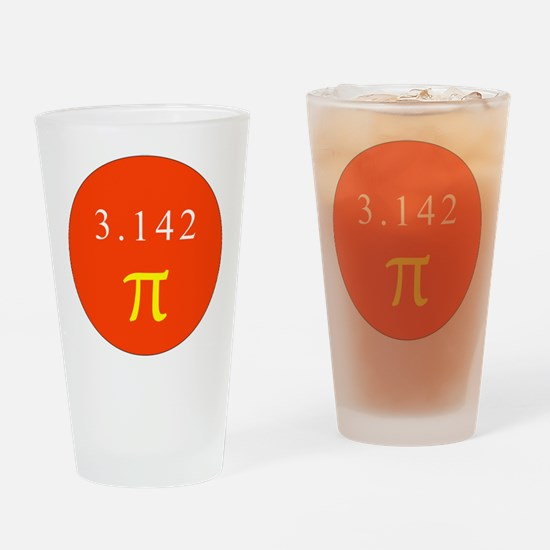 Pi - RED Drinking Glass