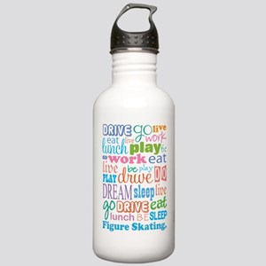 Figure Skating Stainless Water Bottle 1.0L
