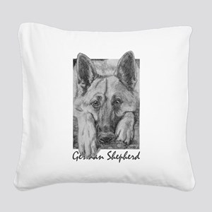 PODO Portraits -- German Shepherd Square Canvas Pi