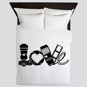 Camera Love Queen Duvet