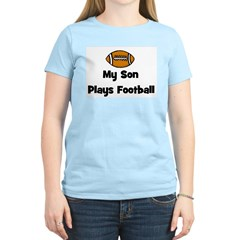 My Son Plays Football Women's Pink T-Shirt