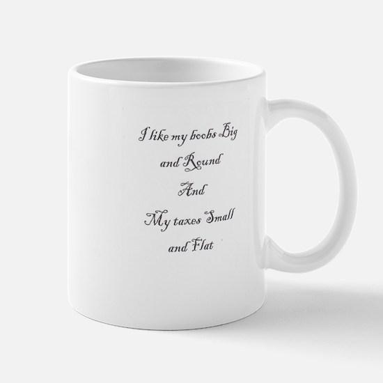 Big boobs, small taxes Mug