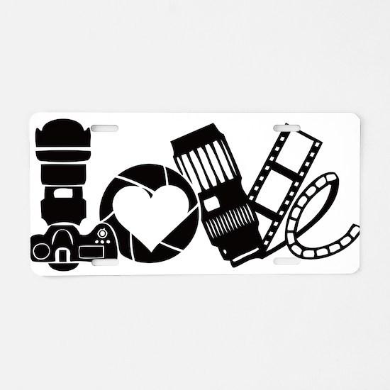 Camera Love Aluminum License Plate