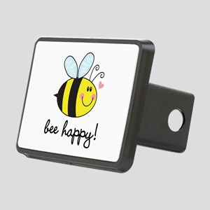 Bee Happy Rectangular Hitch Cover