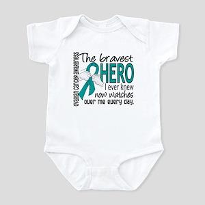 Bravest Hero I Knew Ovarian Cancer Infant Bodysuit