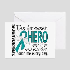 Bravest Hero I Knew Ovarian Cancer Greeting Card