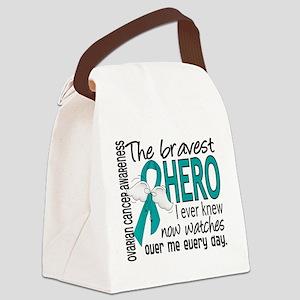 Bravest Hero I Knew Ovarian Cancer Canvas Lunch Ba